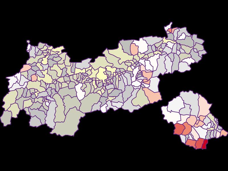 Фермеры (сравнение по Австрии) в Tirol