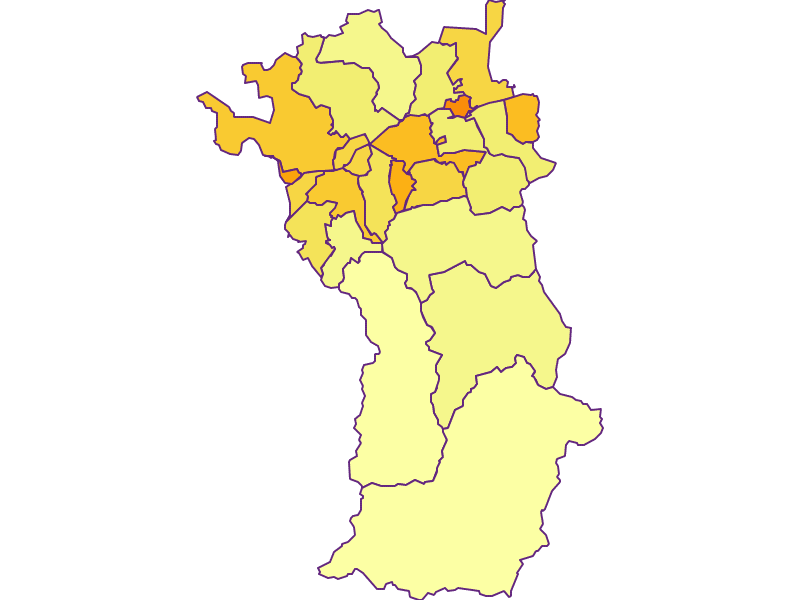 Population density in Imst