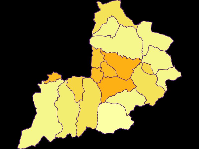 Плотность населения в Kitzbühel