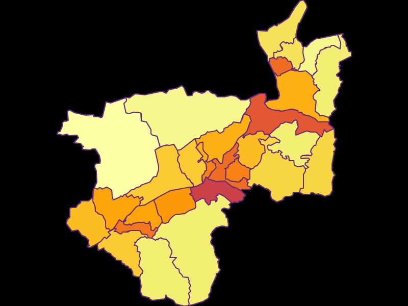 Population density in Kufstein
