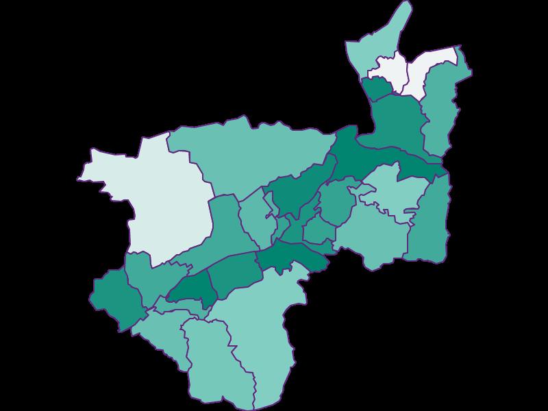 Population development since 1869 in Kufstein