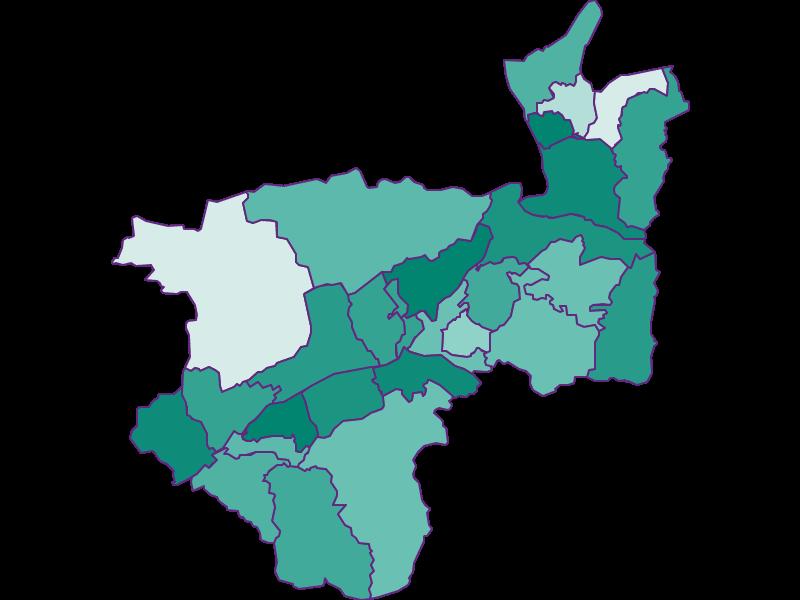 Population development since 1900 in Kufstein