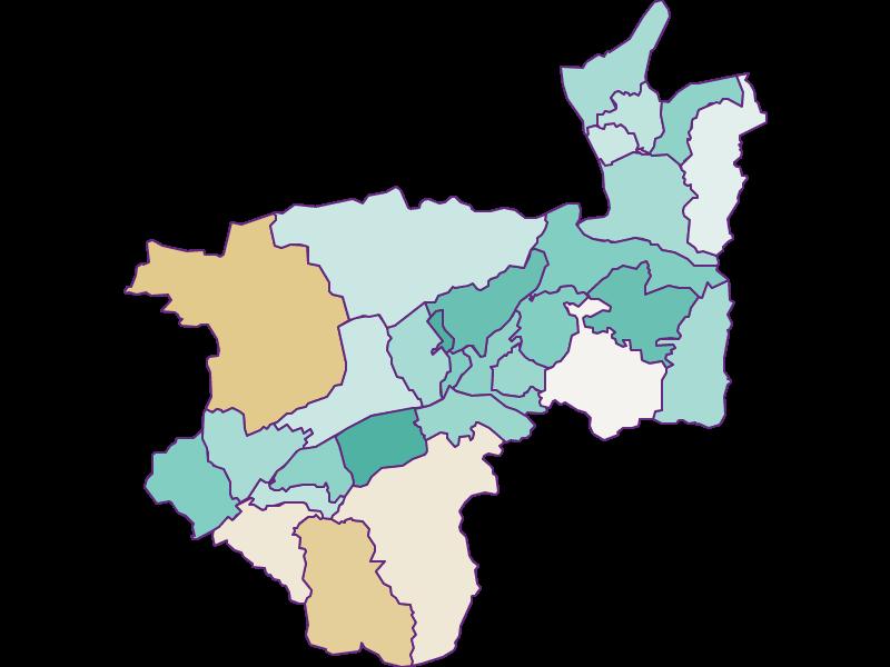 Population development since 2011 in Kufstein