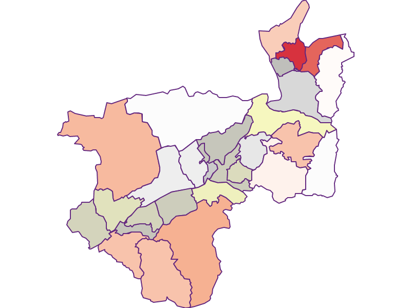 Farmers (comparison to federal state) in Kufstein