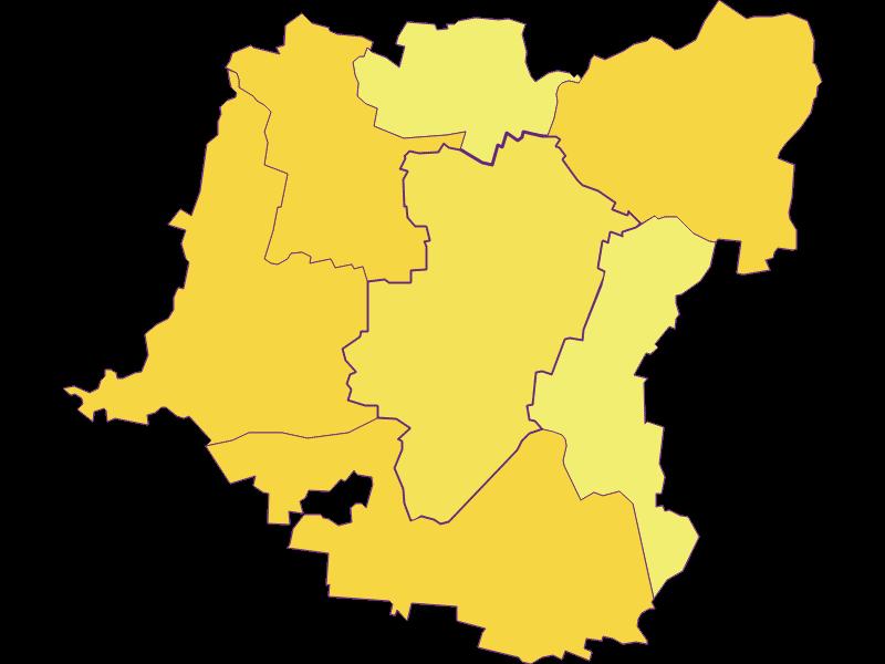 Population density in Kirchberg am Wagram