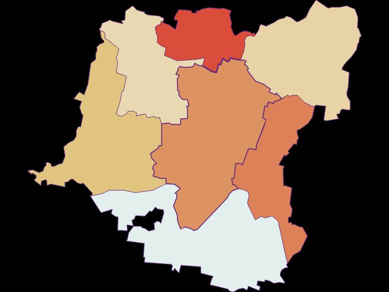 Population development since 1869 in Kirchberg am Wagram