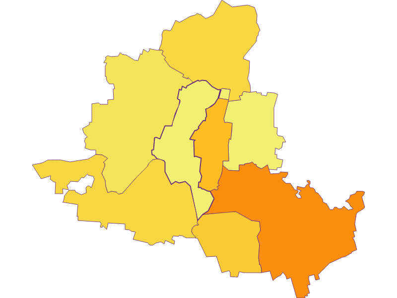 Population density in Königsbrunn am Wagram