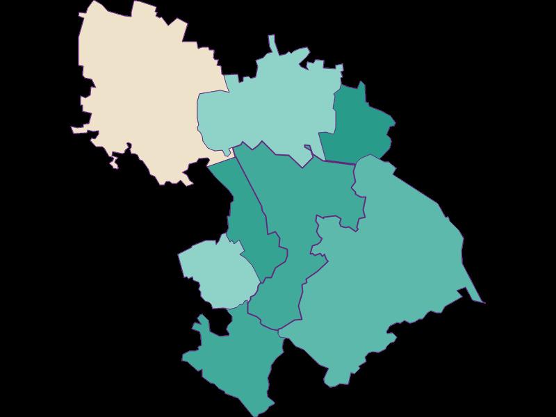 Population development since 1869 in St. Andrä-Wördern