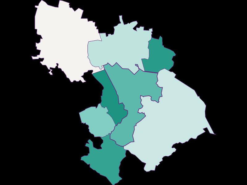 Population development since 1900 in St. Andrä-Wördern