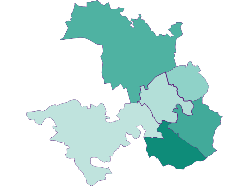 Population development since 1869 in Tulbing