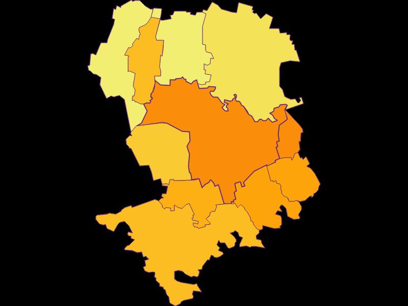 Плотность населения в Tulln an der Donau