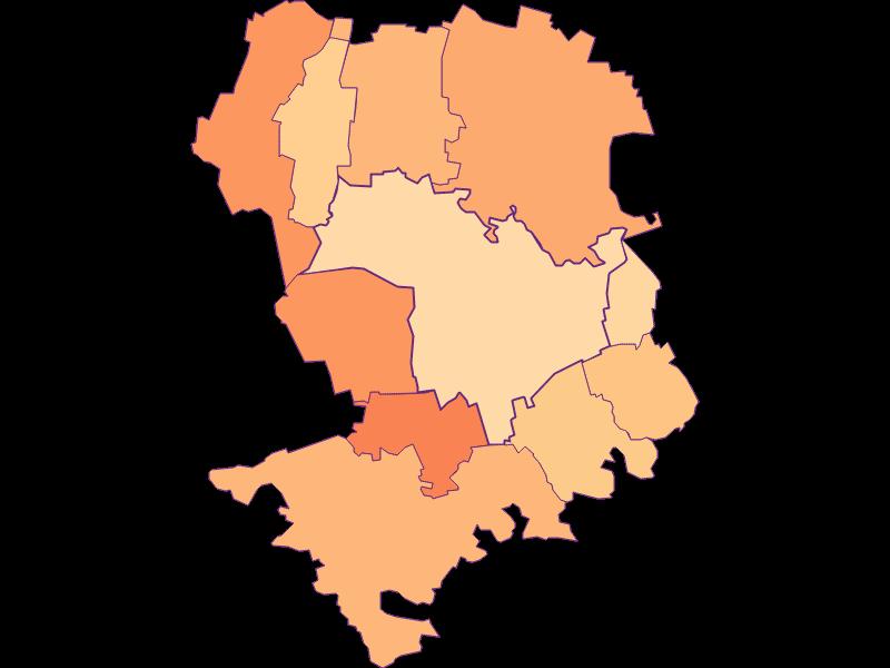 Размер домохозяйства в Tulln an der Donau