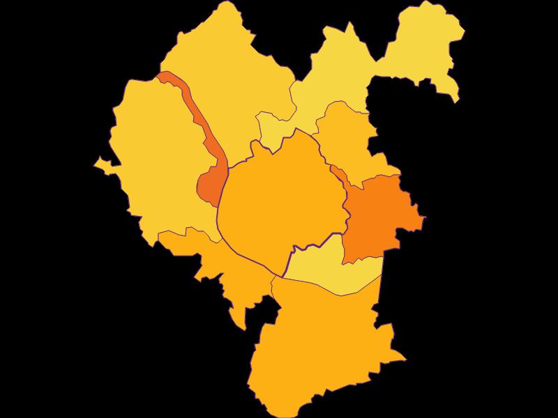 Плотность населения | Feldkirchen an der Donau