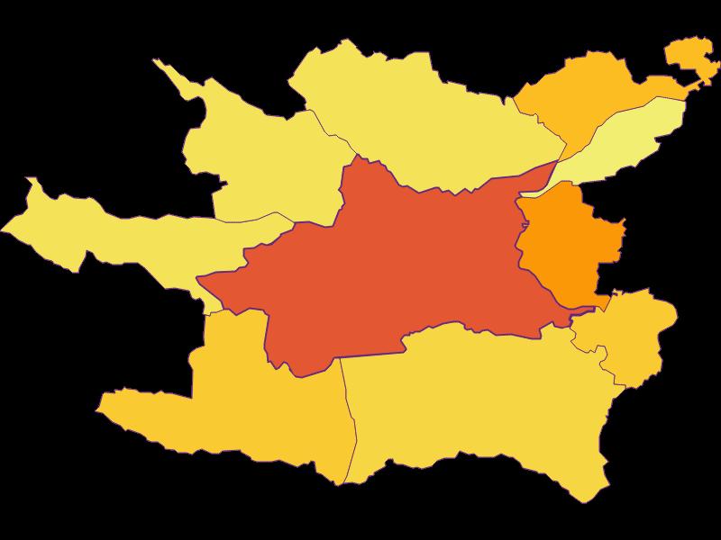 Плотность населения в Villach