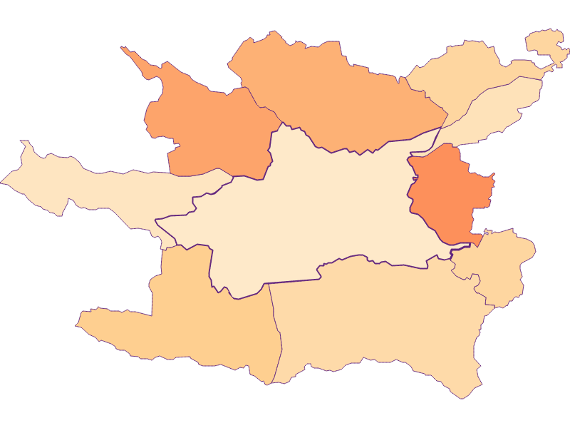 Размер домохозяйства в Villach