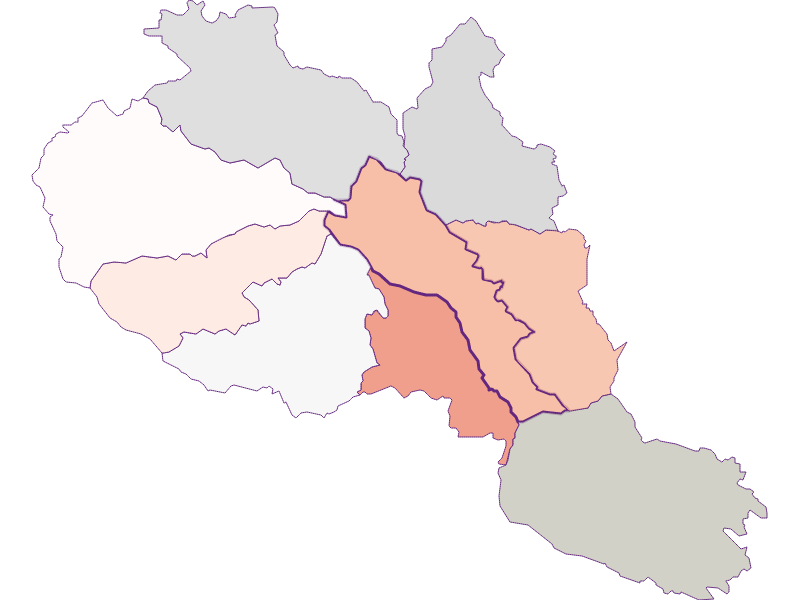 Farmers (comparison to federal state) in Hirschegg-Pack
