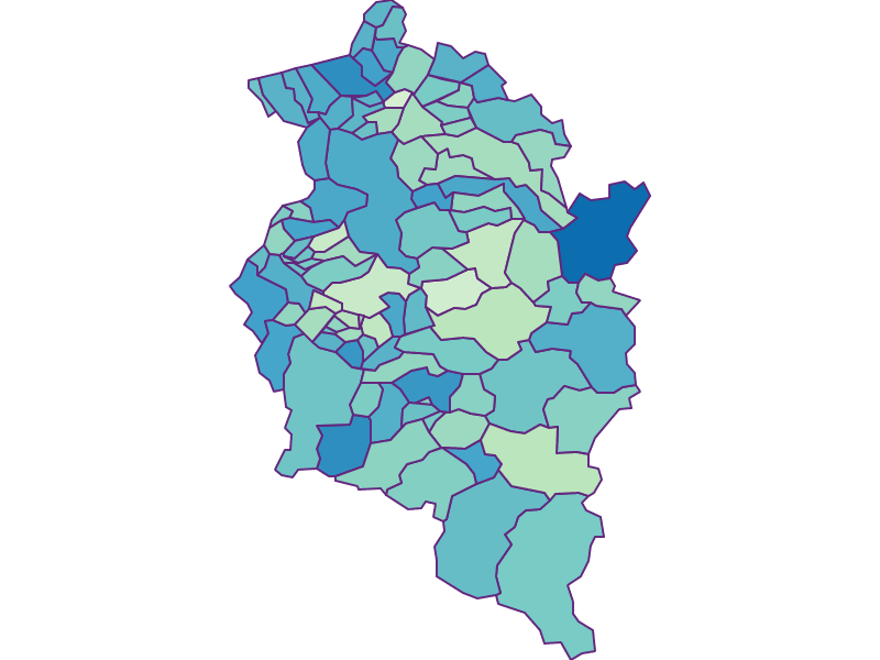 Share of foreigners in Vorarlberg