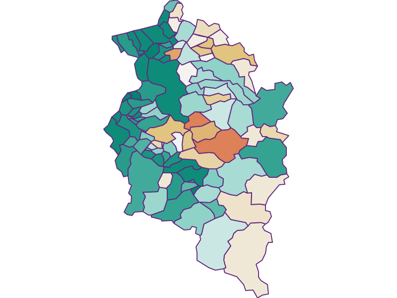 Population development since 1869 in Vorarlberg