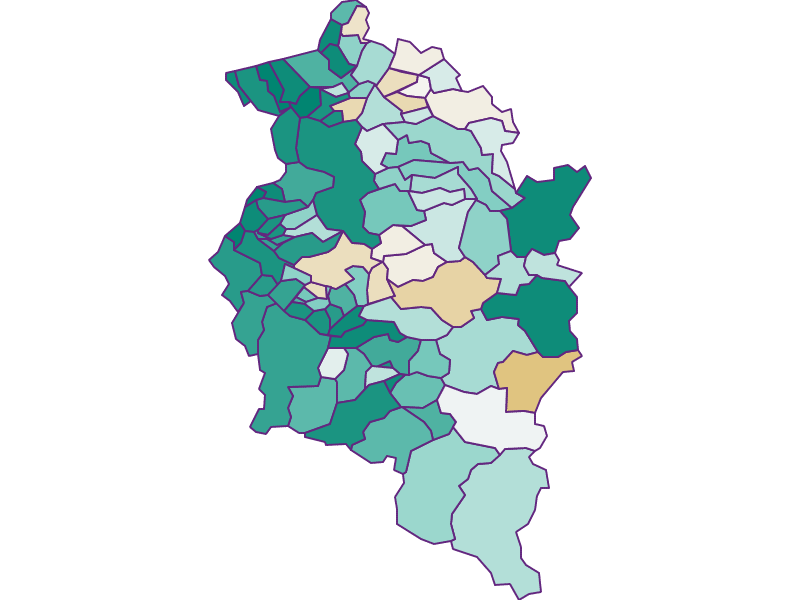 Population development since 1900 in Vorarlberg