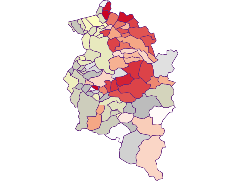 Farmers (comparison to federal state) in Vorarlberg