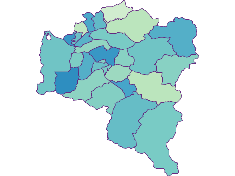 Share of foreigners in Bludenz