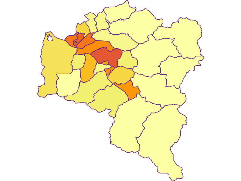 Population density in Bludenz