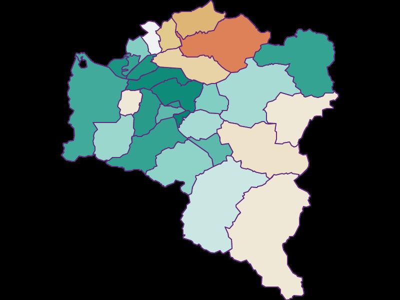 Population development since 1869 in Bludenz