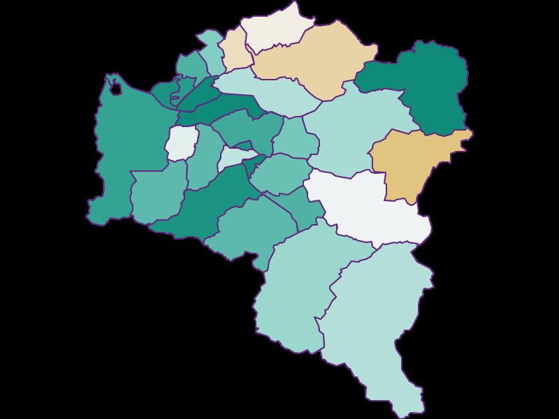 Population development since 1900 in Bludenz
