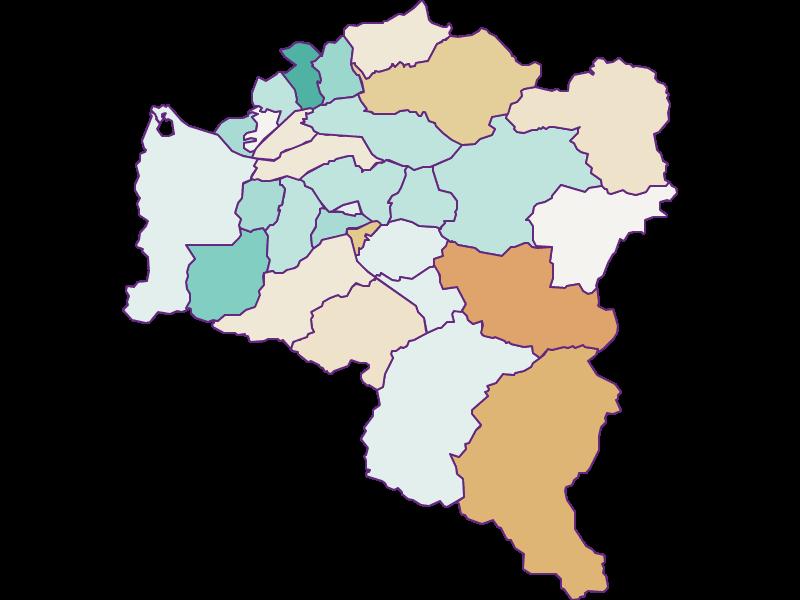 Population development since 2011 in Bludenz