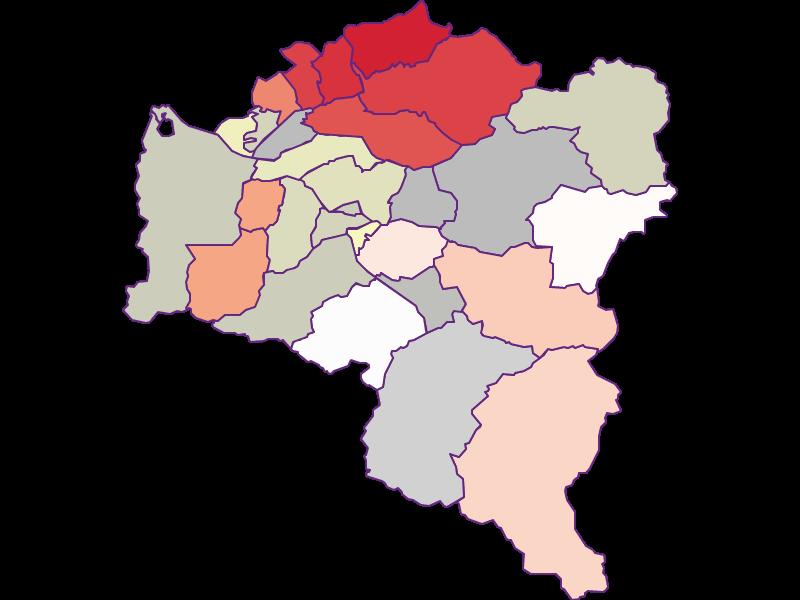 Farmers (comparison to federal state) in Bludenz