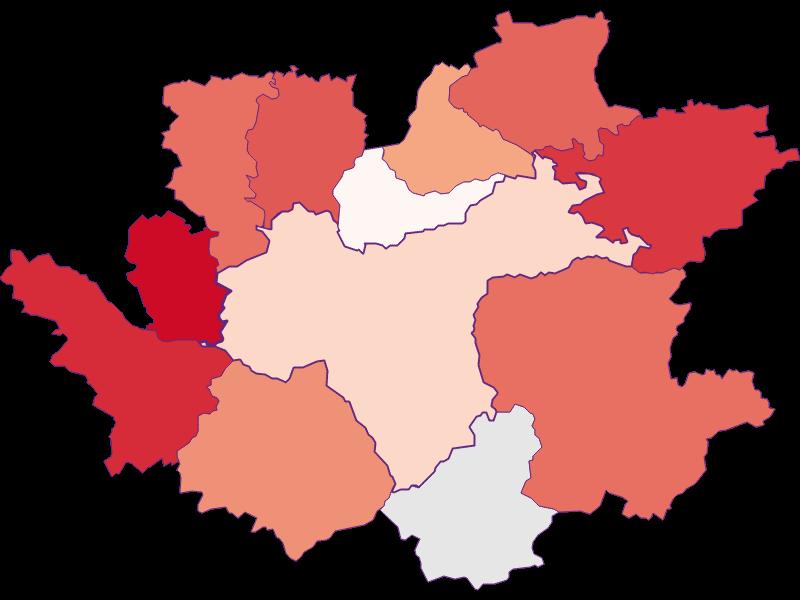 Activity rate in Waidhofen an der Ybbs