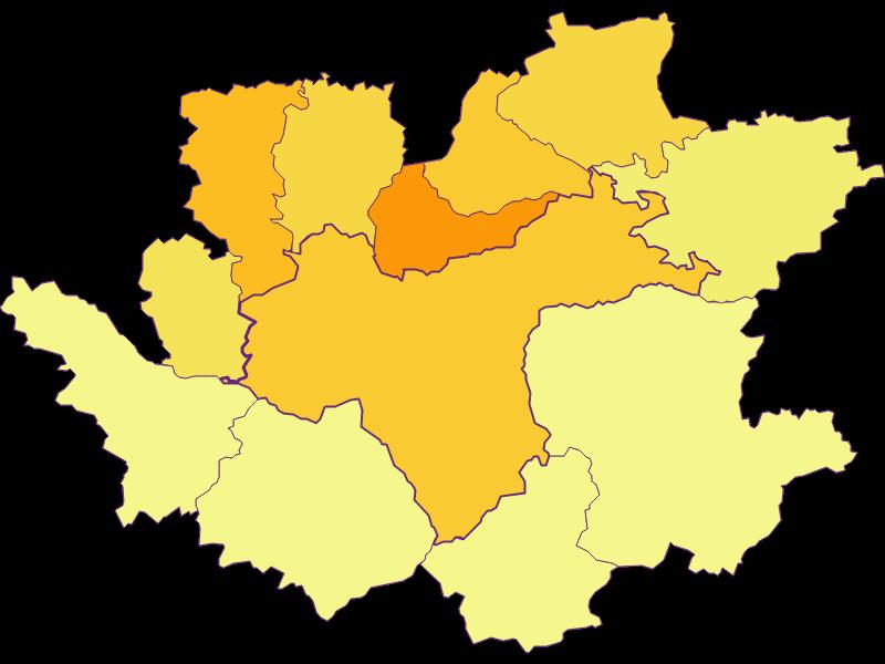 Плотность населения в Waidhofen an der Ybbs