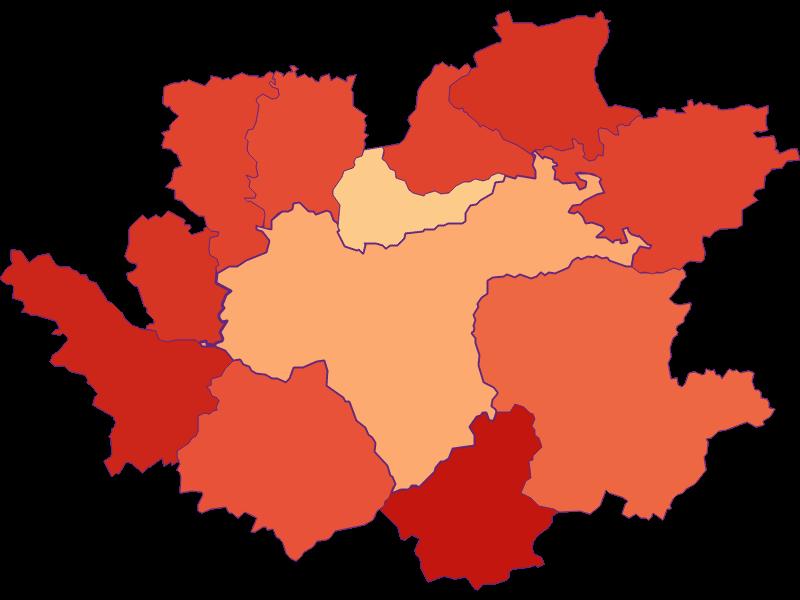 Размер домохозяйства в Waidhofen an der Ybbs