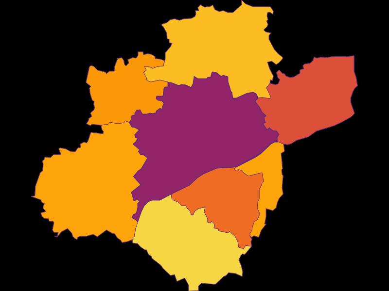 Плотность населения в Wels