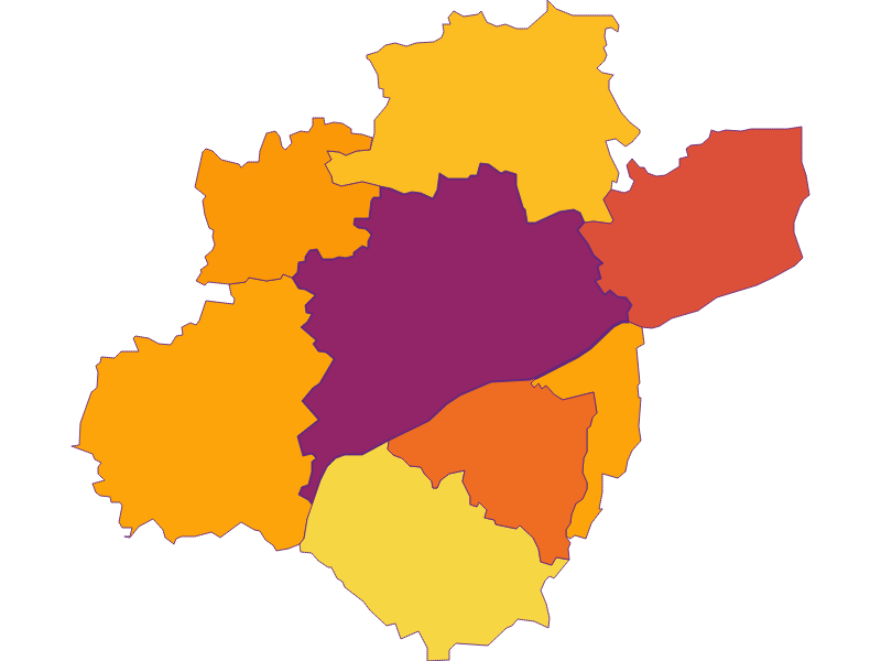 Population density in Wels