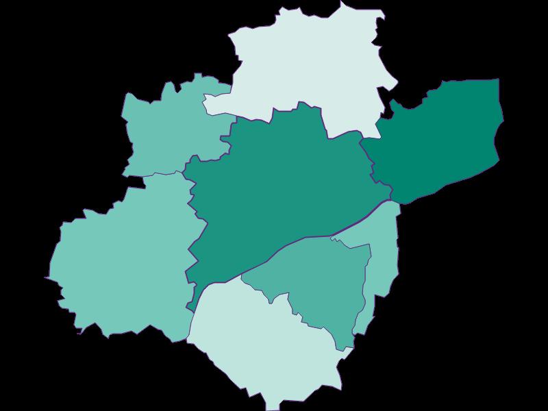 Population development since 1869 in Wels