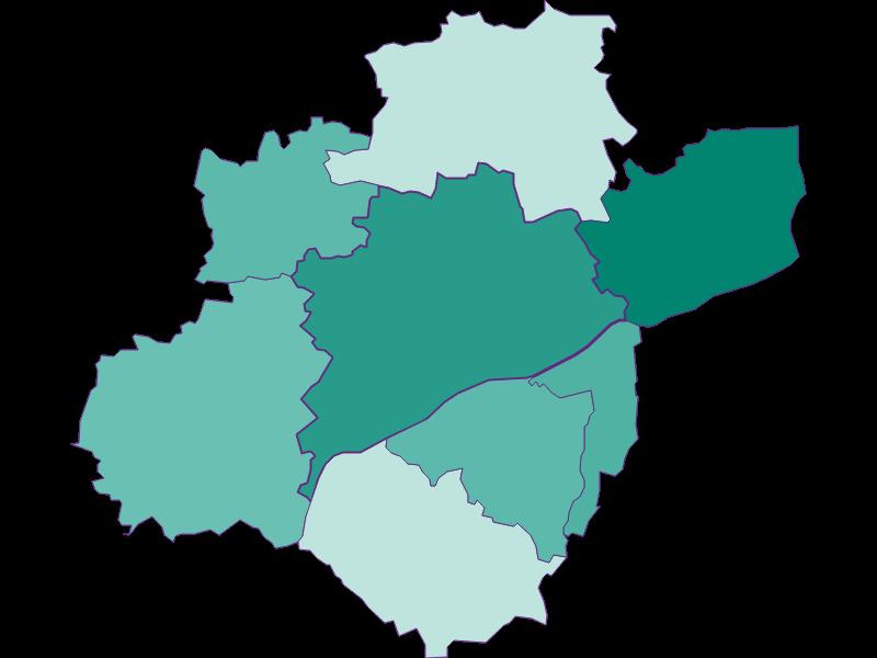 Population development since 1900 in Wels