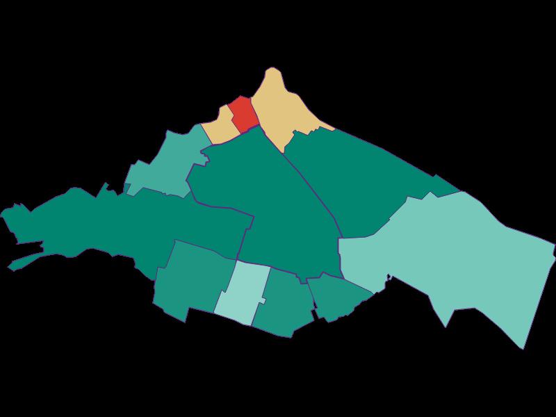 Демография с 1869 года в Wien 10.,Favoriten