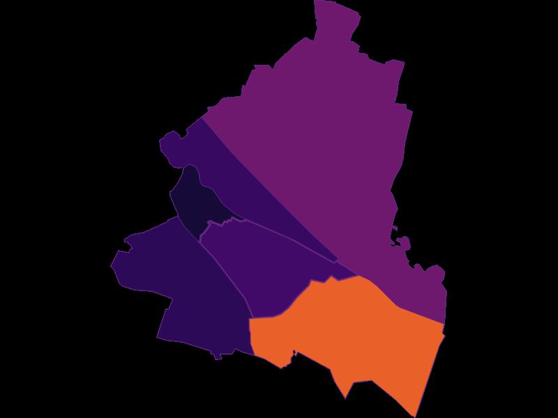 Плотность населения в Wien 11.,Simmering
