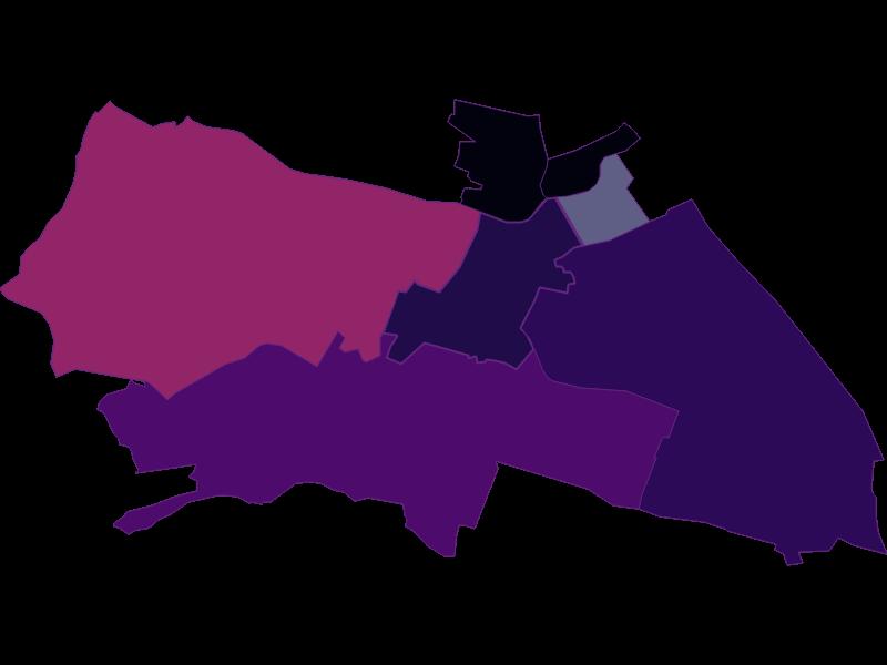 Плотность населения в Wien 12.,Meidling