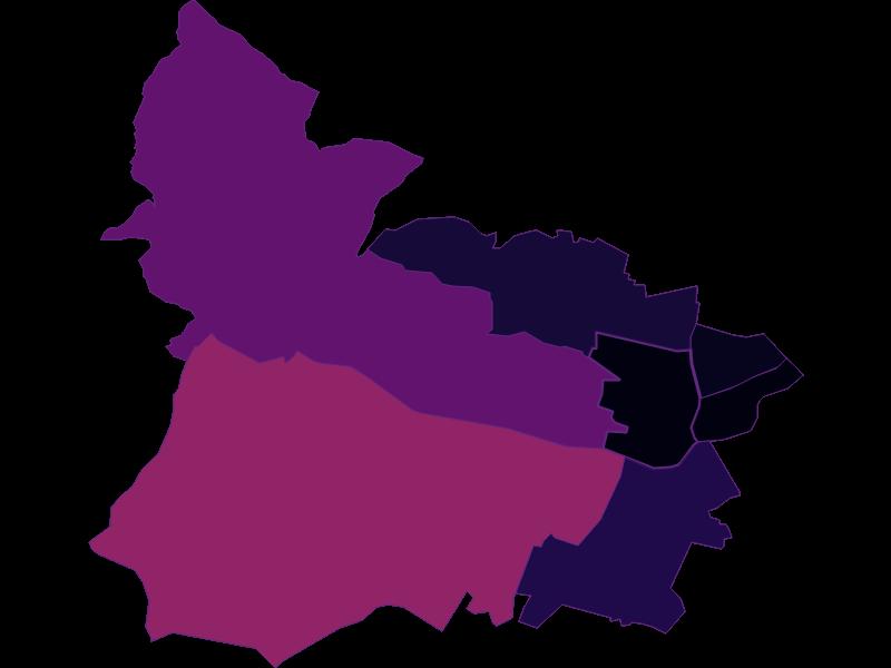Population density in Wien 15.,Rudolfsheim-Fünfhaus