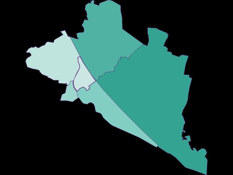 Population development since 2011 in Wien 20.,Brigittenau