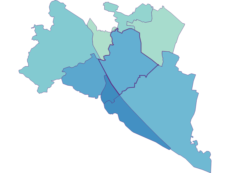 Share of foreigners in Wien 21.,Floridsdorf