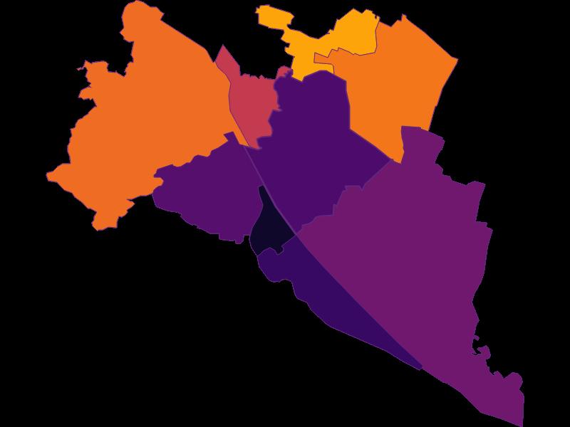 Плотность населения в Wien 21.,Floridsdorf