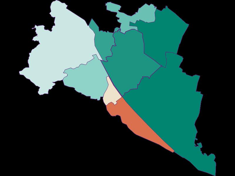 Population development since 1900 in Wien 21.,Floridsdorf