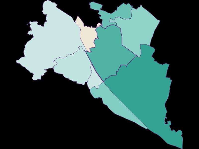 Population development since 2011 in Wien 21.,Floridsdorf