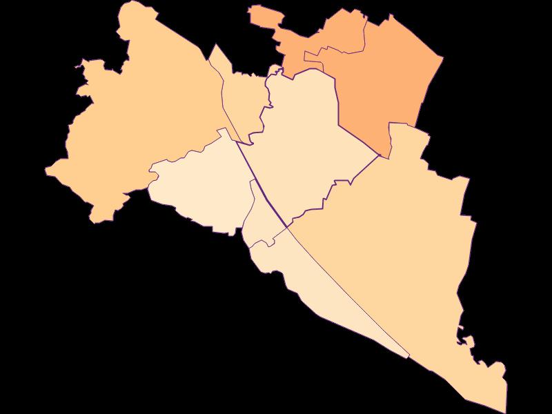 Household size in Wien 21.,Floridsdorf