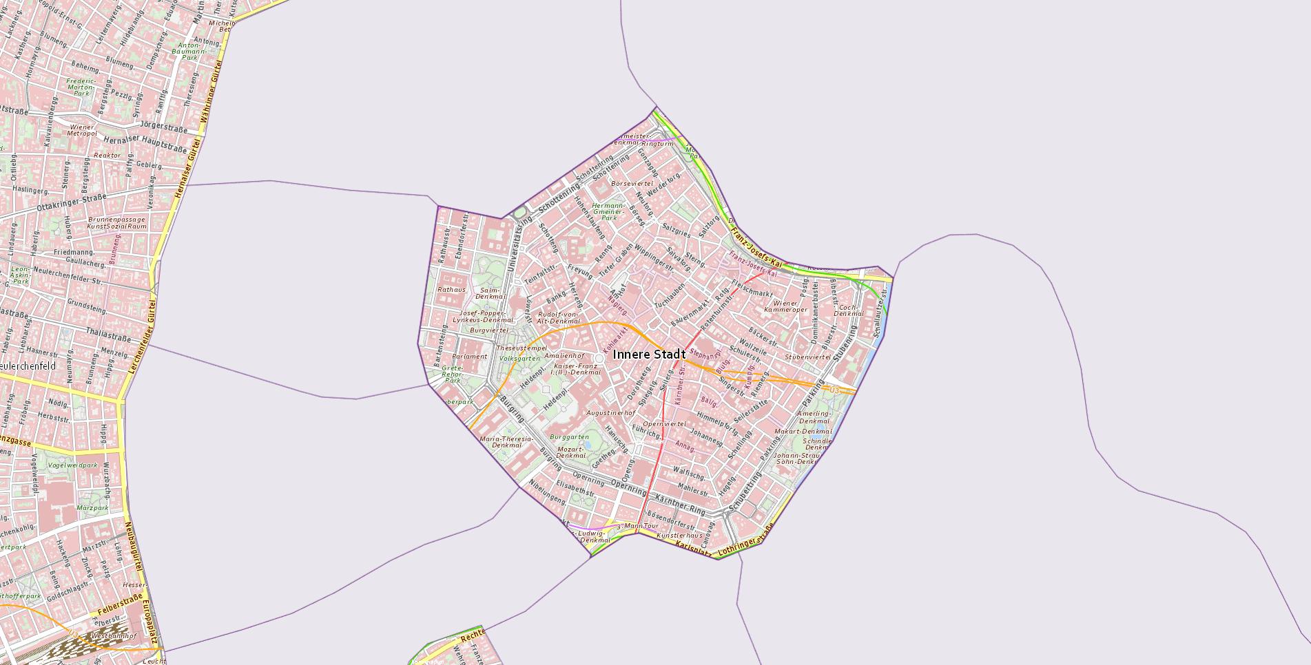 Bezirk Wien  1.,Innere Stadt - Wien