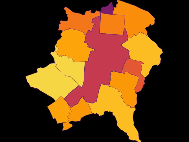 Плотность населения в Wiener Neustadt