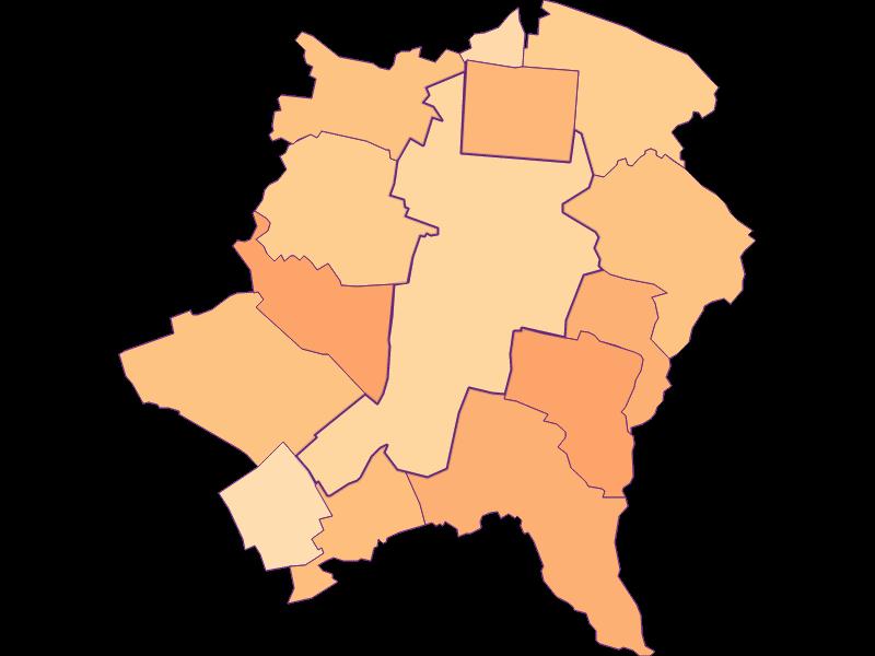 Размер домохозяйства в Wiener Neustadt